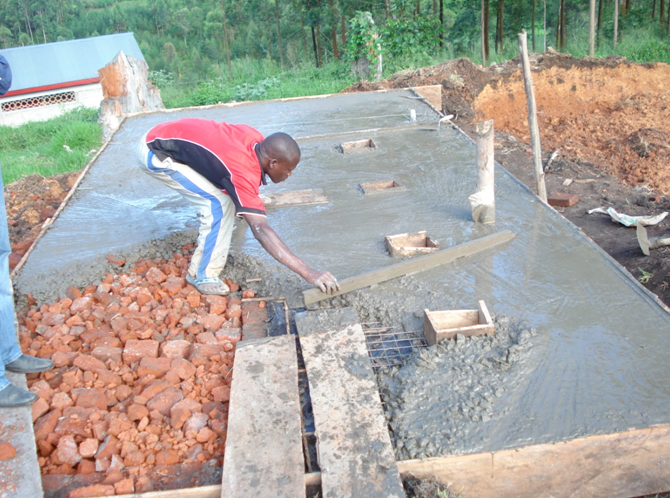 LAYING CEMENT SLAB